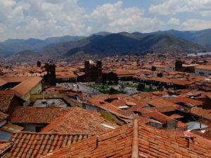 Ausblick von der Dachterrasse des Hostal Resbalosa