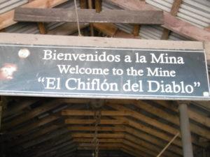 Eingang zur Kohlemine Chiflón del Diablo