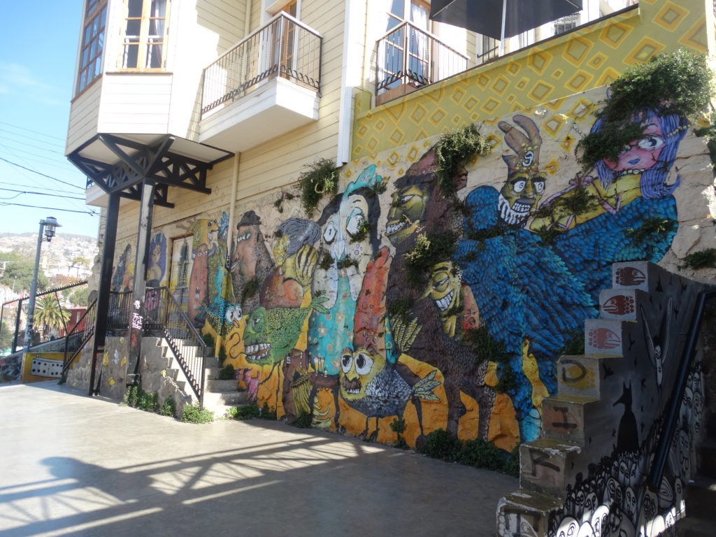 Eines der vielen Graffitis, welche Valparaíso so einzigartig machen.