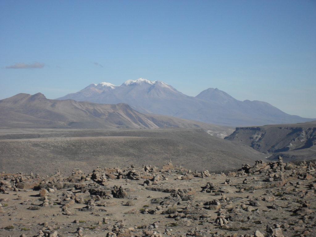 Ausblick auf den Chachani im Valle de los Volcanos (Tal der Vulkane)