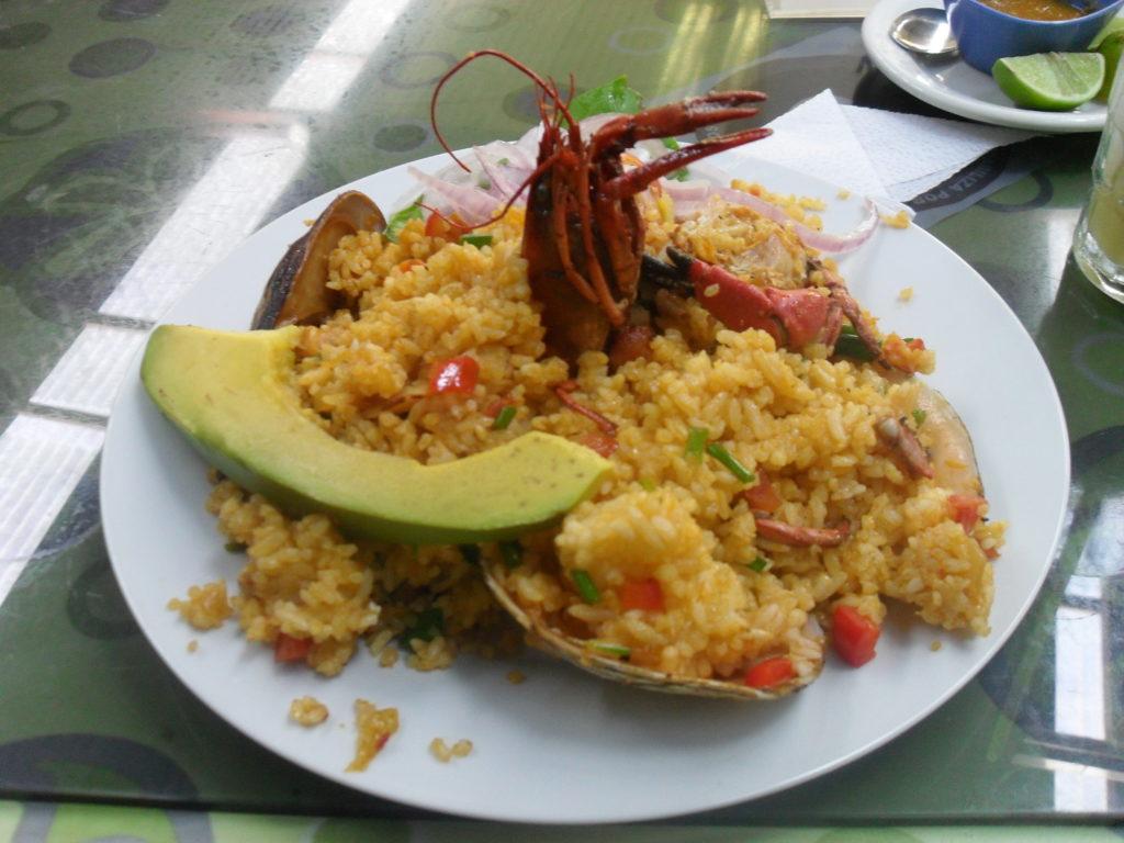 Reis mit Meeresfrüchten, ein Hochgenuss der peruanischen Küche