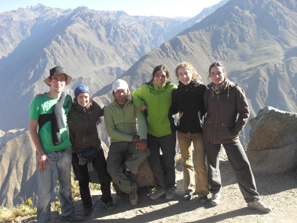 Colca Canyon Peru - Trek - meine Gruppe