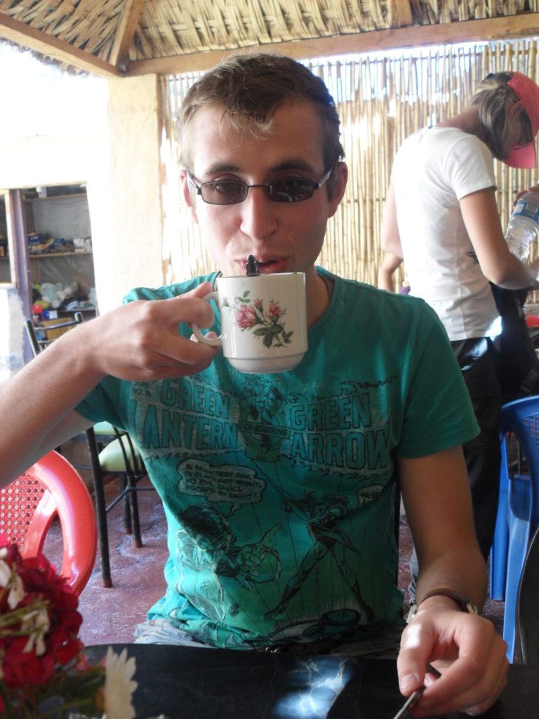 Ein Coca-Tee zur Pause
