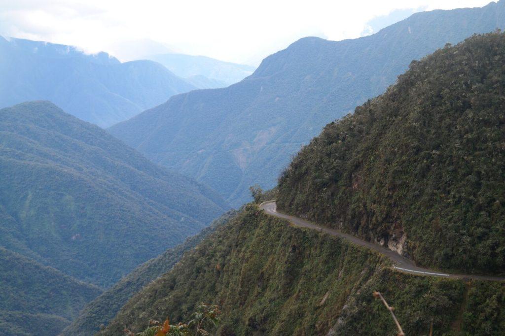 Die Death Road bei La Paz. Foto von Beo