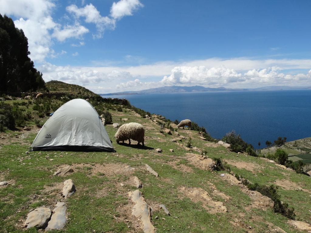 Camping auf der Sonneninsel (Isla del Sol) am Titicacasee. Ich kann es nur empfehlen!