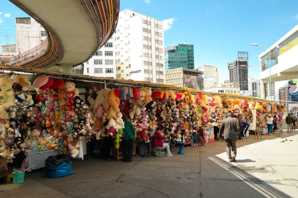 Typische Marktstände in La Paz
