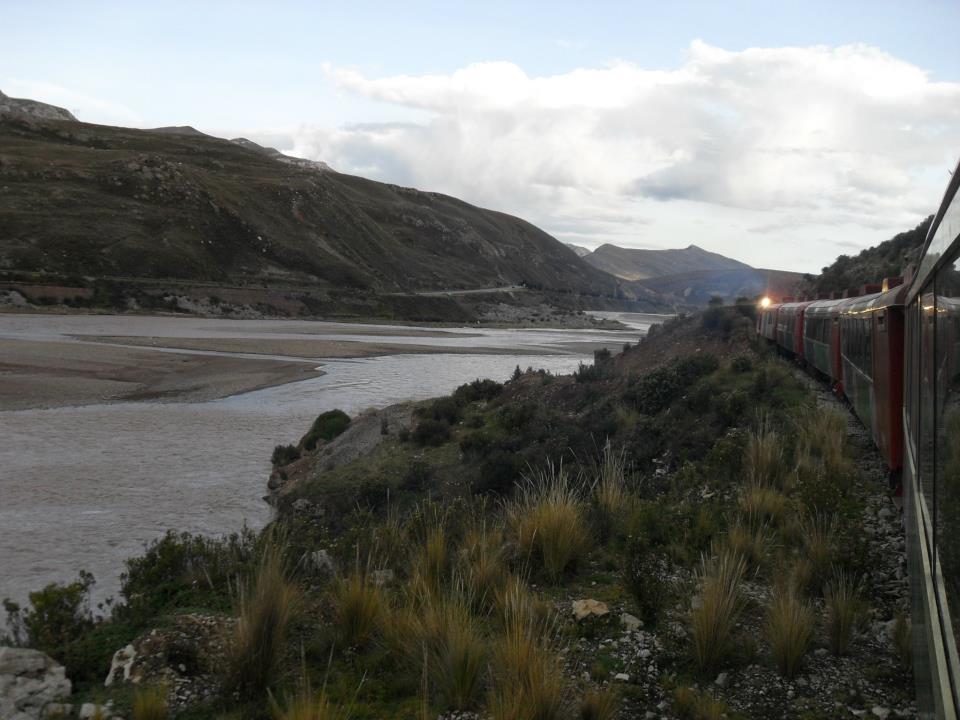 Die Abenddämmerung kurz vor der Ankunft in Huancayo