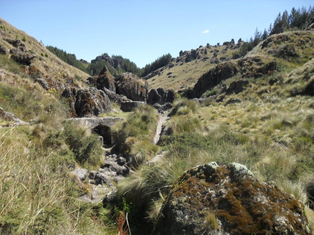 Das Bewässerungssystem auf 3.500 m Höhe wurde höchstwahrscheinlich von der Cajamarca-Kultur geschaffen.