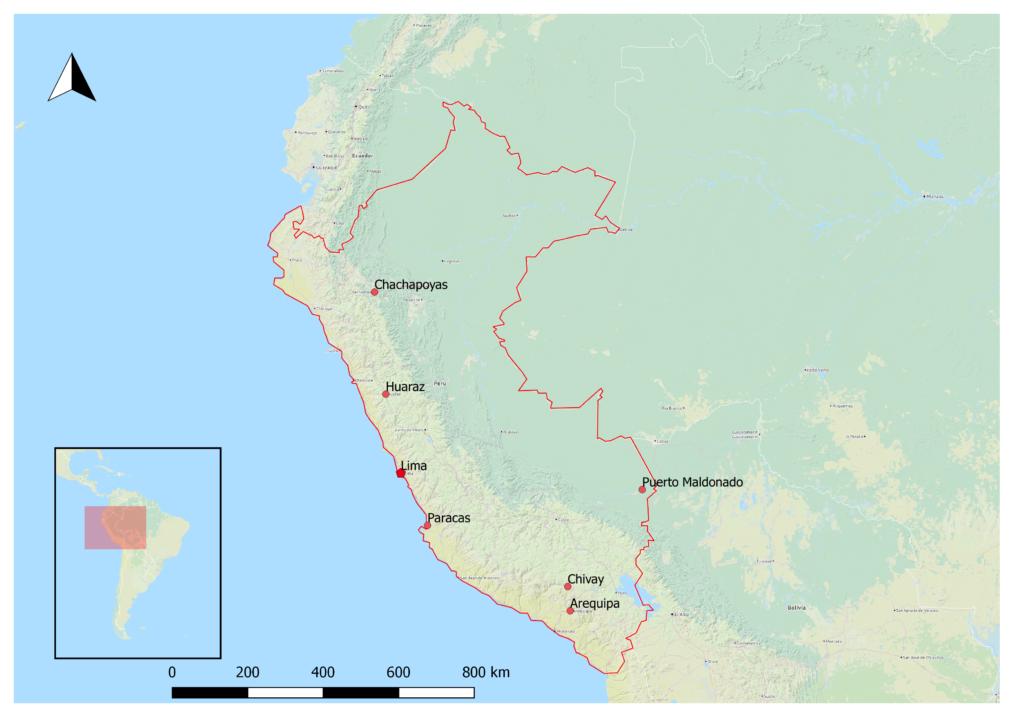 Peru Reiseziele Karte
