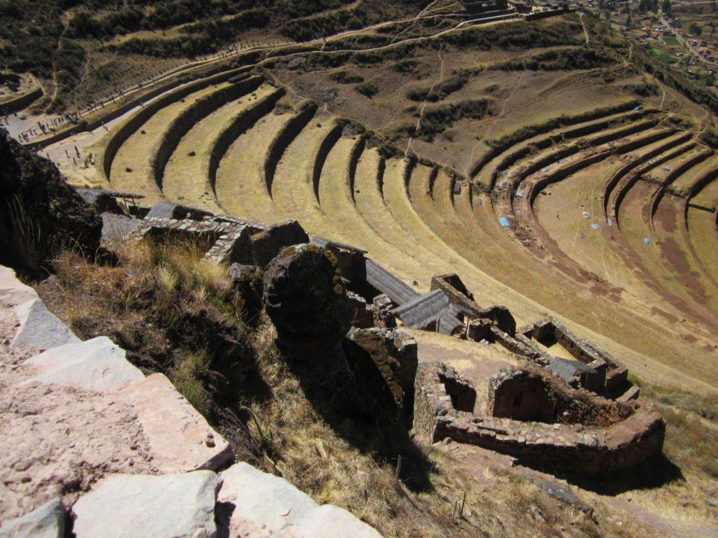 Pisaq im Heiligen Tal der Inka. Auch für diese Stätte benötigtst du ein Boleto Turístico, zu erwerben in Cusco