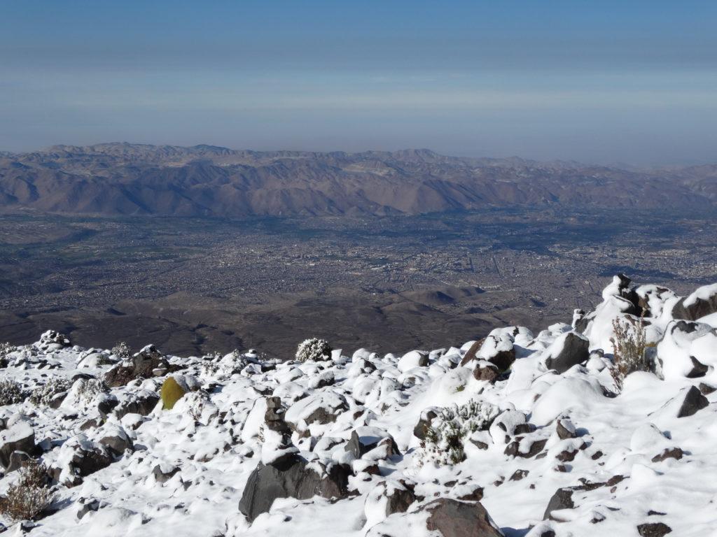 Der Ausblick vom Campamento des Misti auf die 850.000-Einwohner Stadt Arequipa ist spektakulär