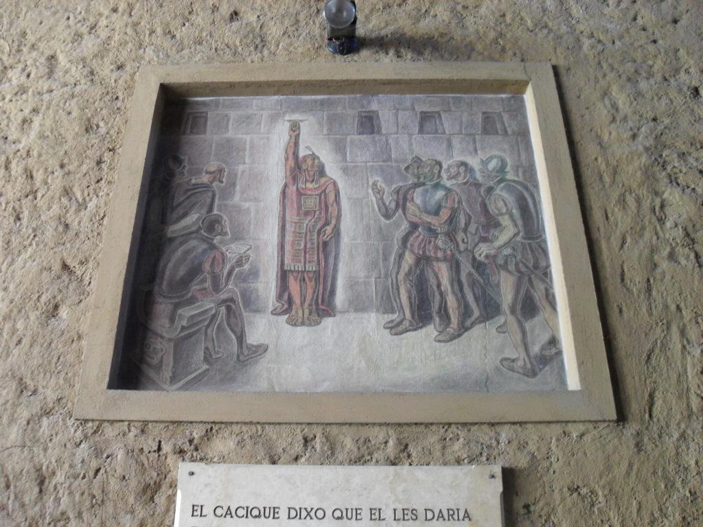 Atahualpa ließ den Raum bis hin zu einer angebrachten Markierung zweimal mit Silber und einmal mit Gold füllen. Entgegen der Absprache wurde Atahualpa dennoch ermordet