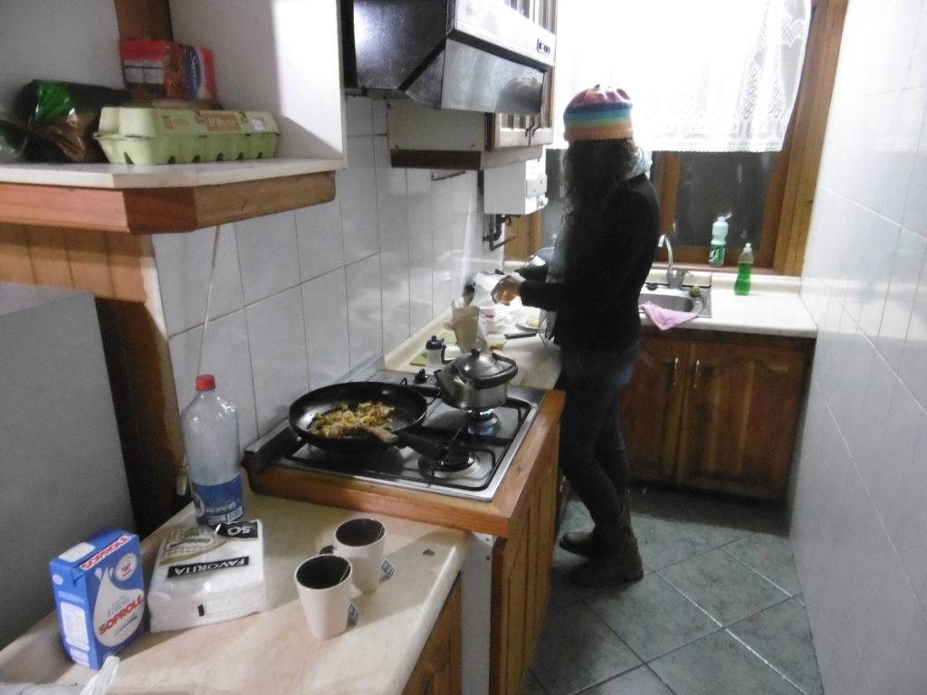 Die Küche im Hostal Victor