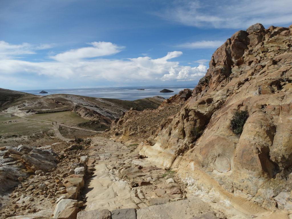 Angekommen in Challapampa. Der erste Blick auf die Chincana-Ruinen.