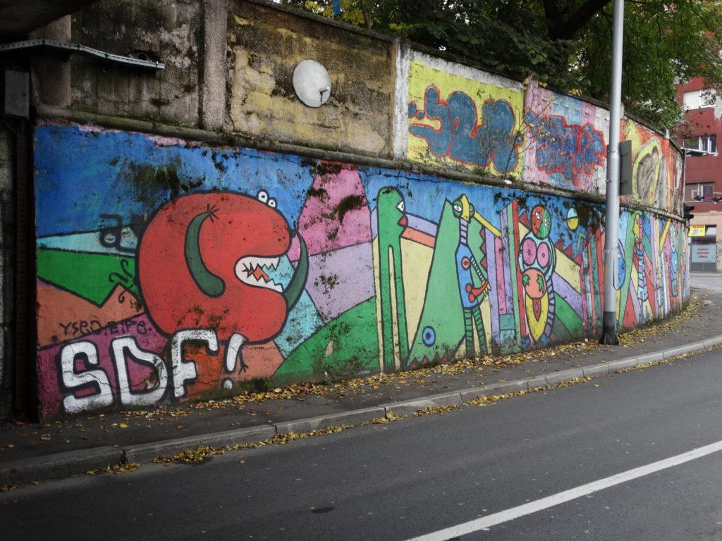 Graffitis in Zagreb, nahe des Busbahnhofs