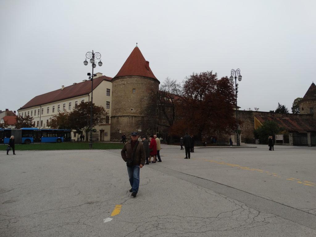 Reste der Stadtmauer am Kapitol von Zagreb