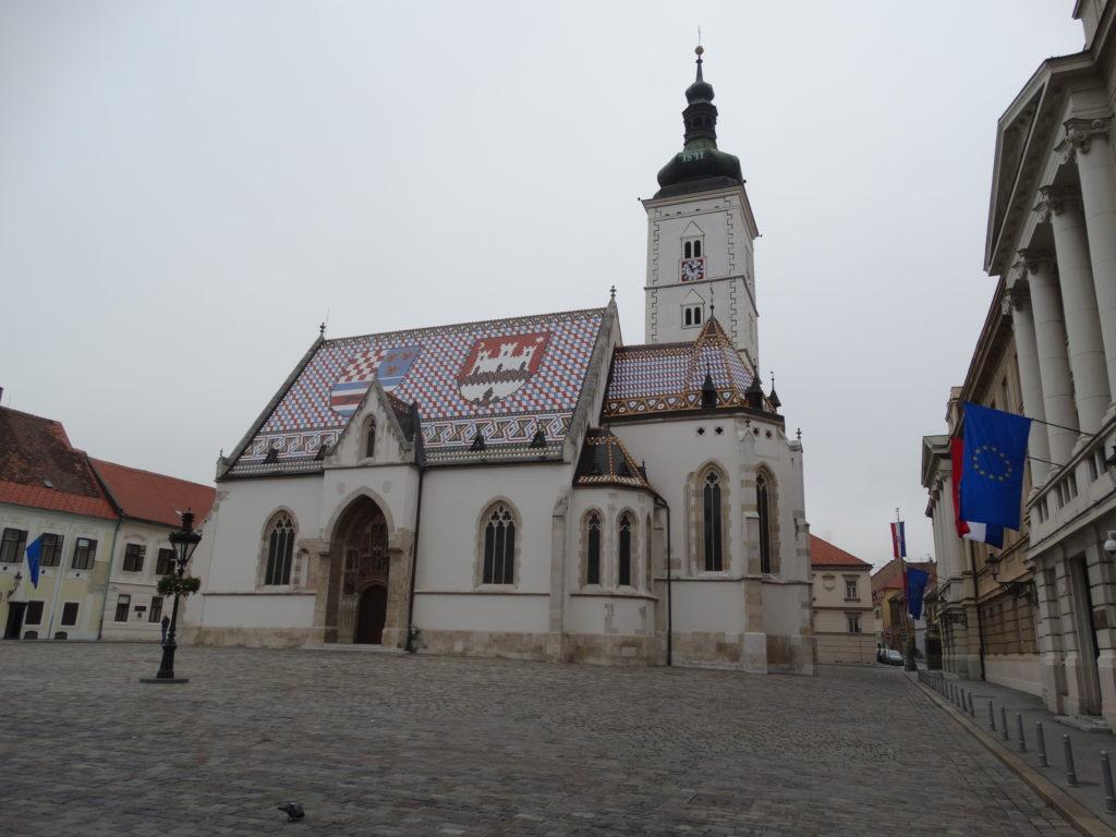 Die Markuskirche ist das Wahrzeichen der Oberstadt von Zagreb